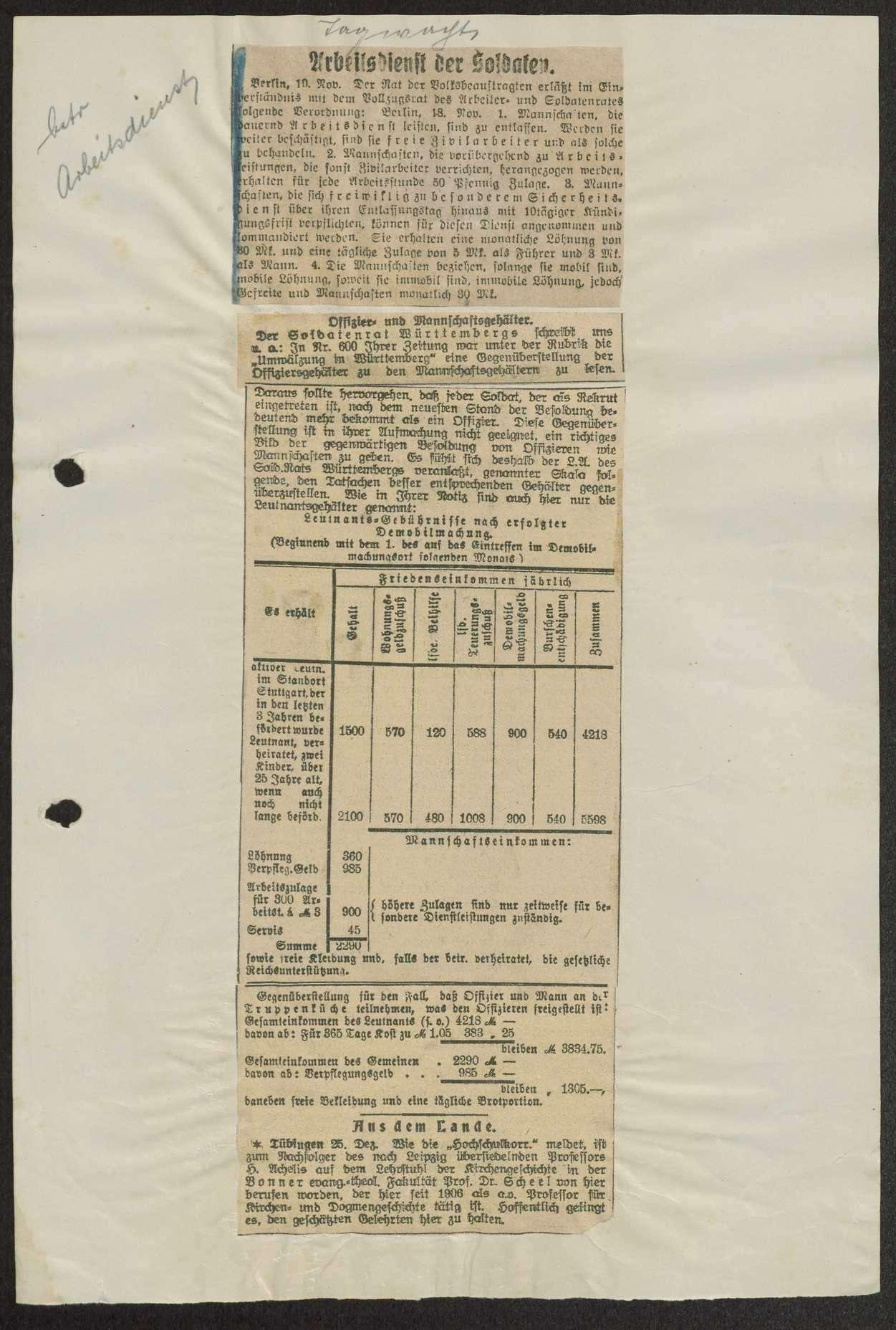 Zeitungsausschnitte, Bild 1