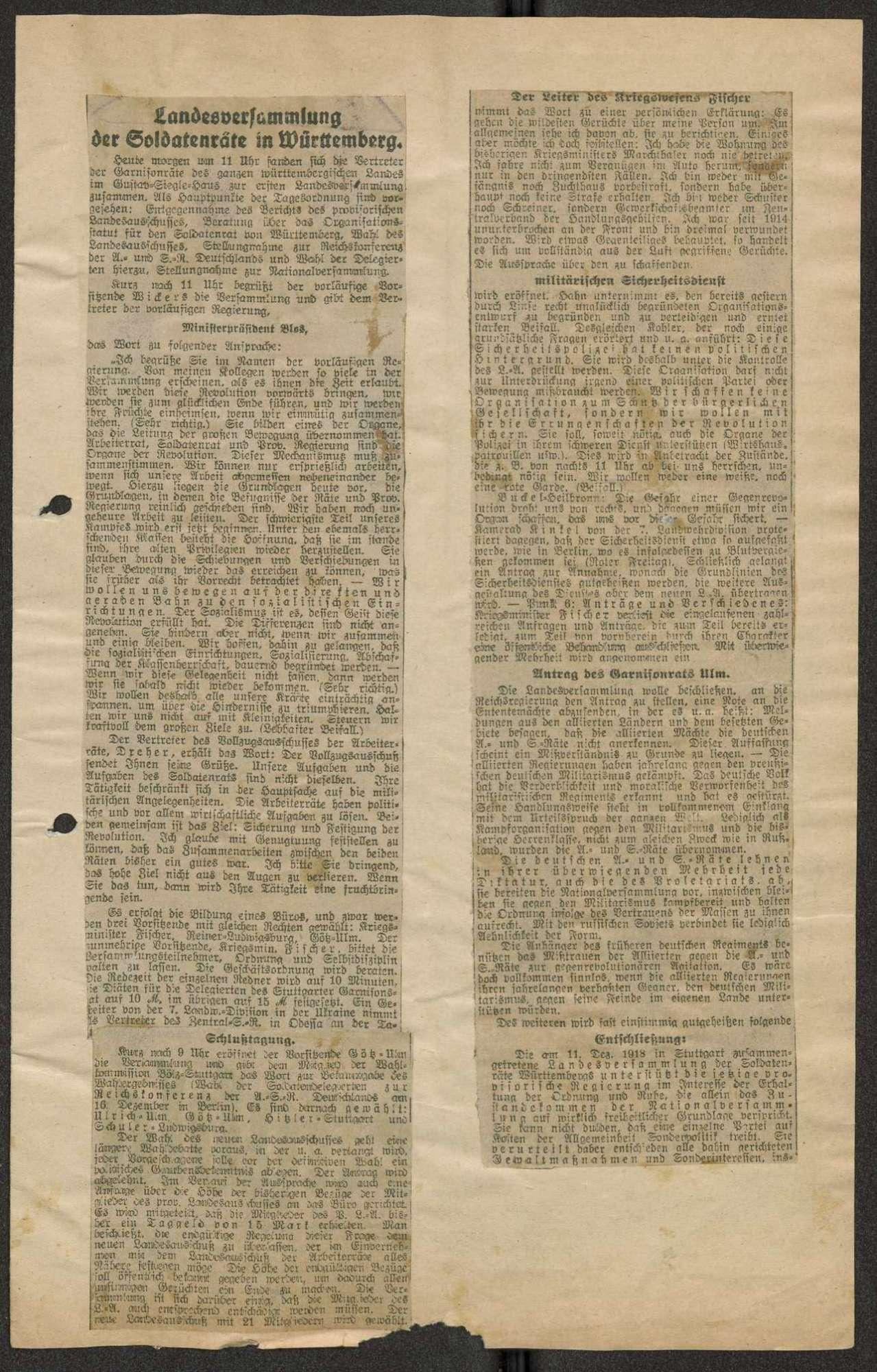 Zeitungsausschnitte, Bild 2