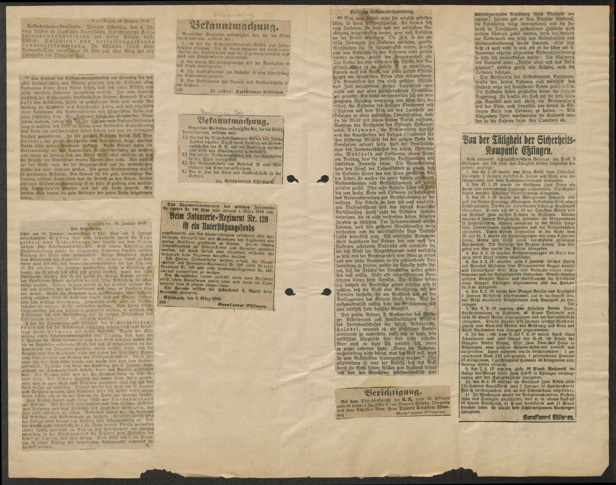 Zeitungsausschnitte, Bild 3