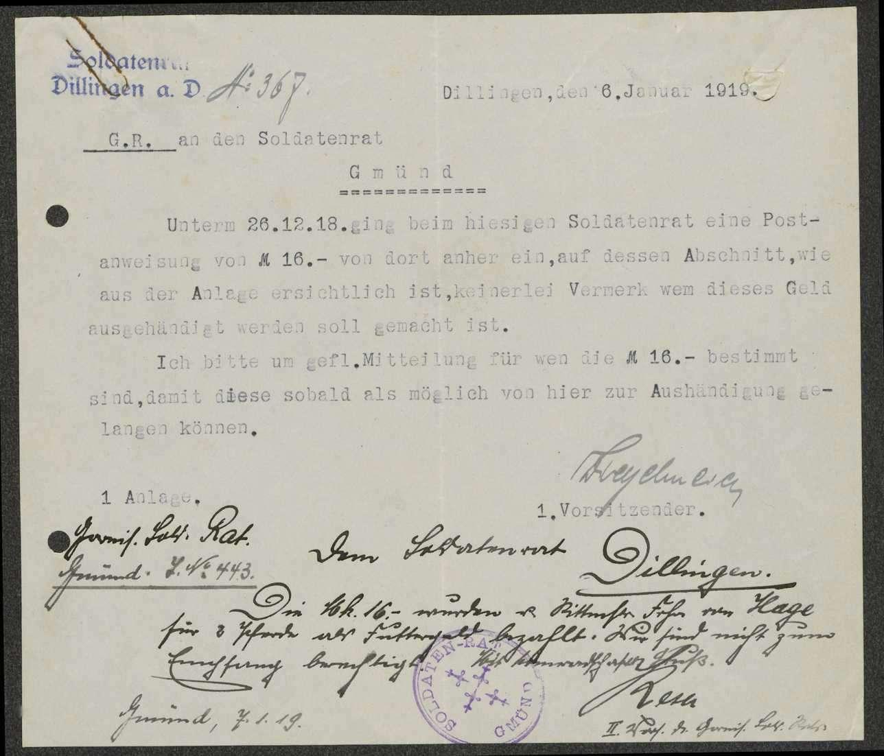 Auszahlung von Futtergeld an Rittmeister, Freiherr von Hage in Dillingen, Bild 3