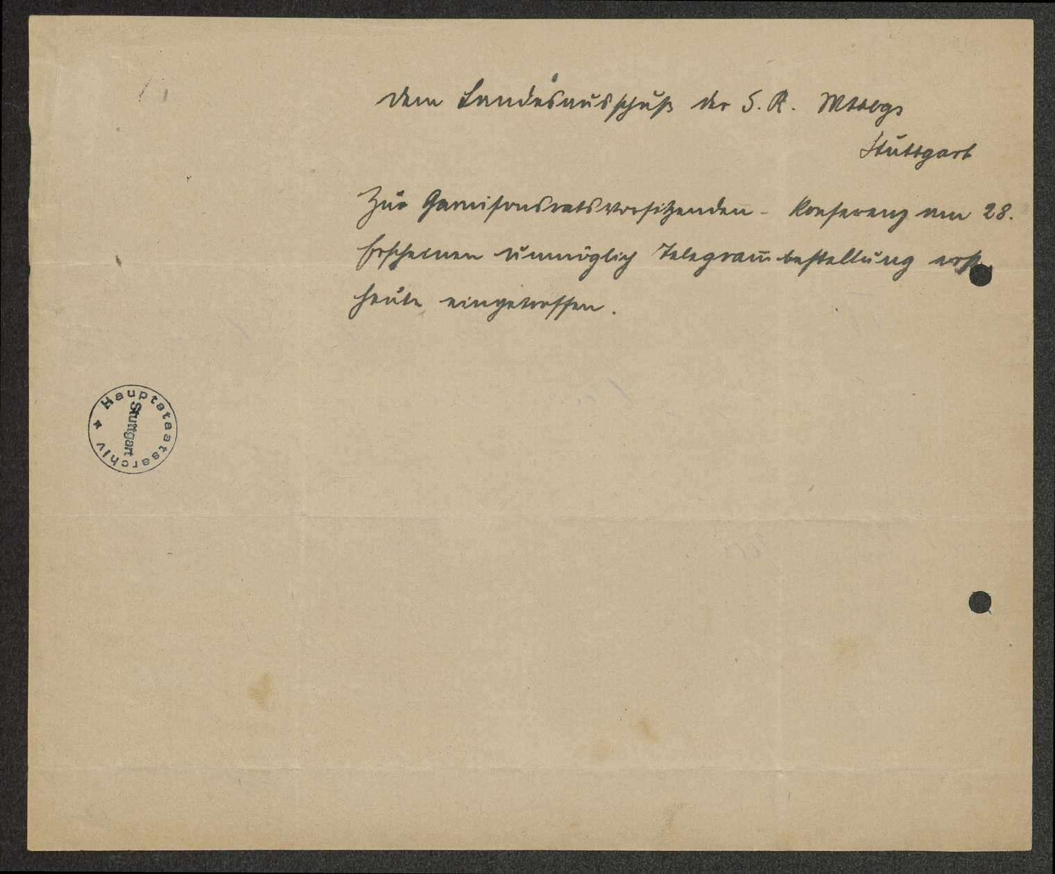 Sitzungen der Vorsitzenden der württembergischen Garnisonräte, Bild 2
