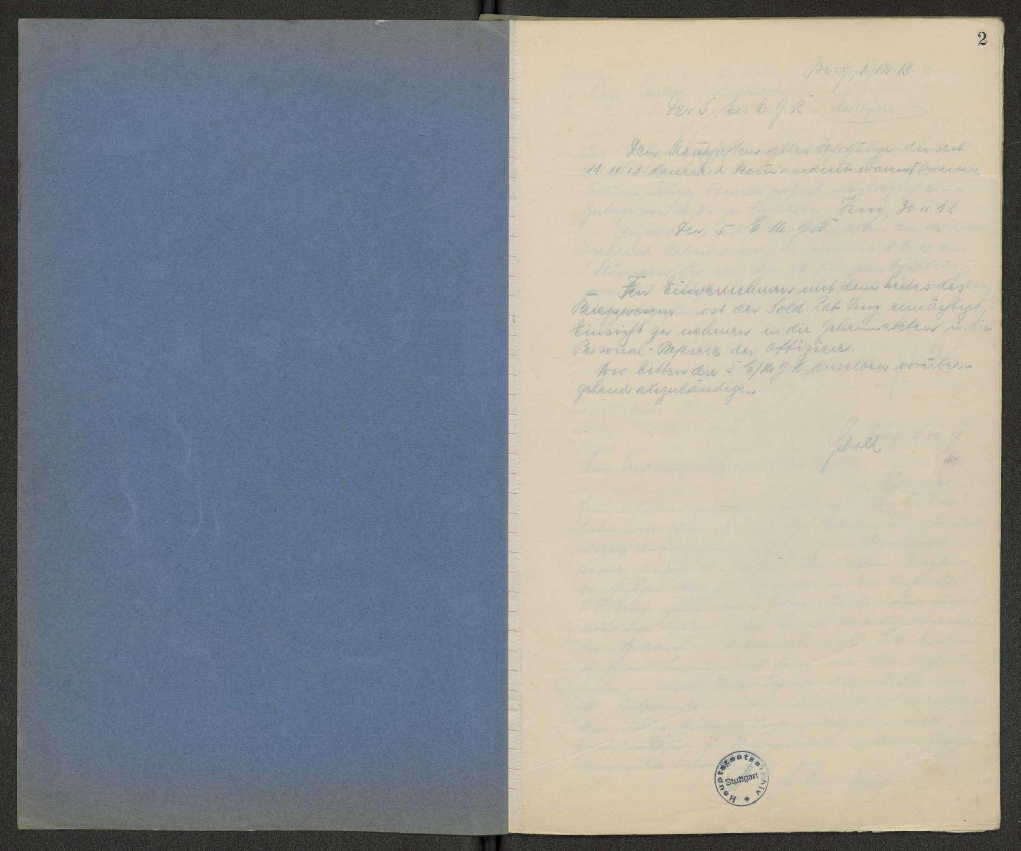 Schriftwechselbuch des Soldatenrats, Bild 2