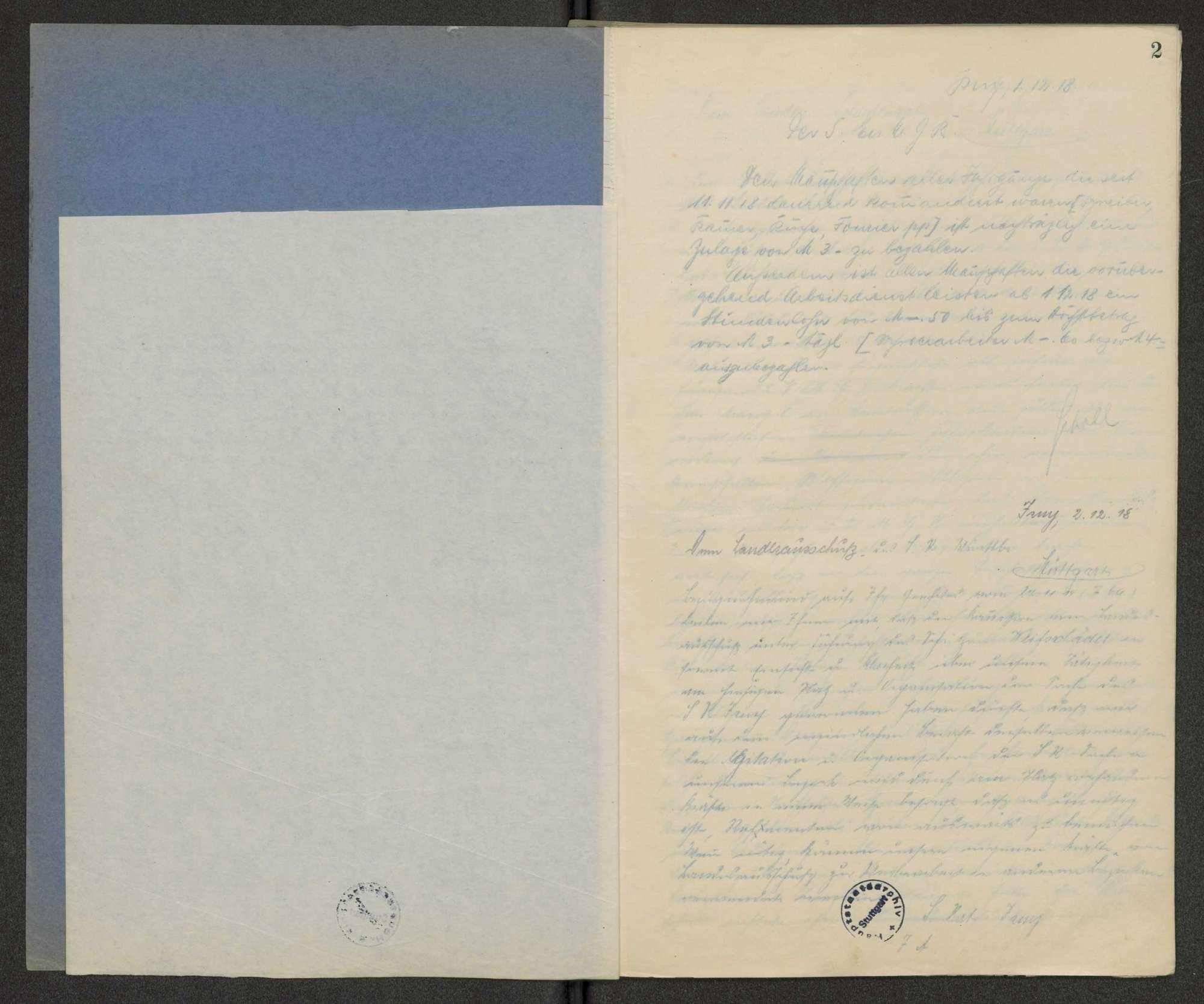 Schriftwechselbuch des Soldatenrats, Bild 3