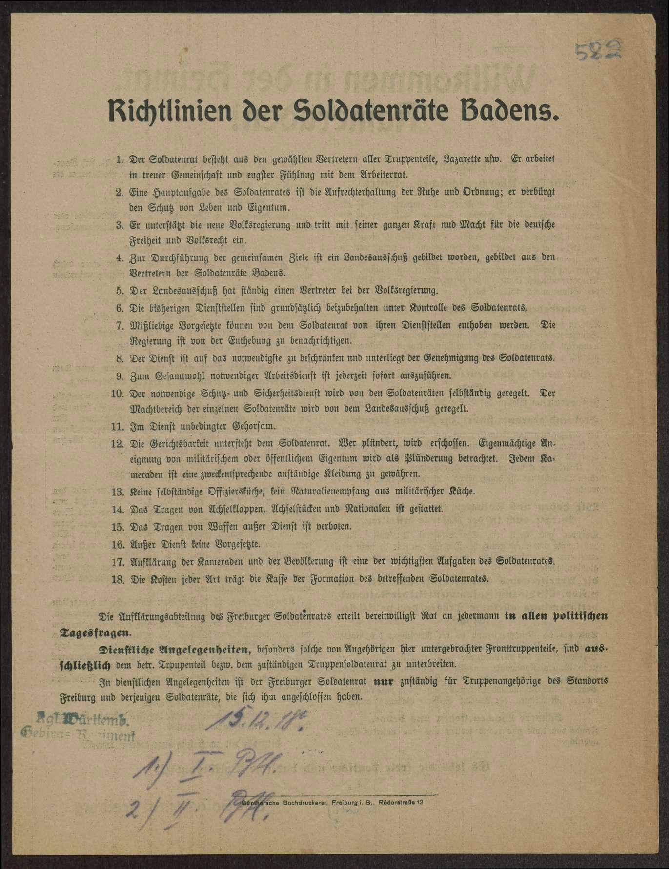 Richtlinien von Soldatenräten auswärtiger Truppenteile, Bild 2