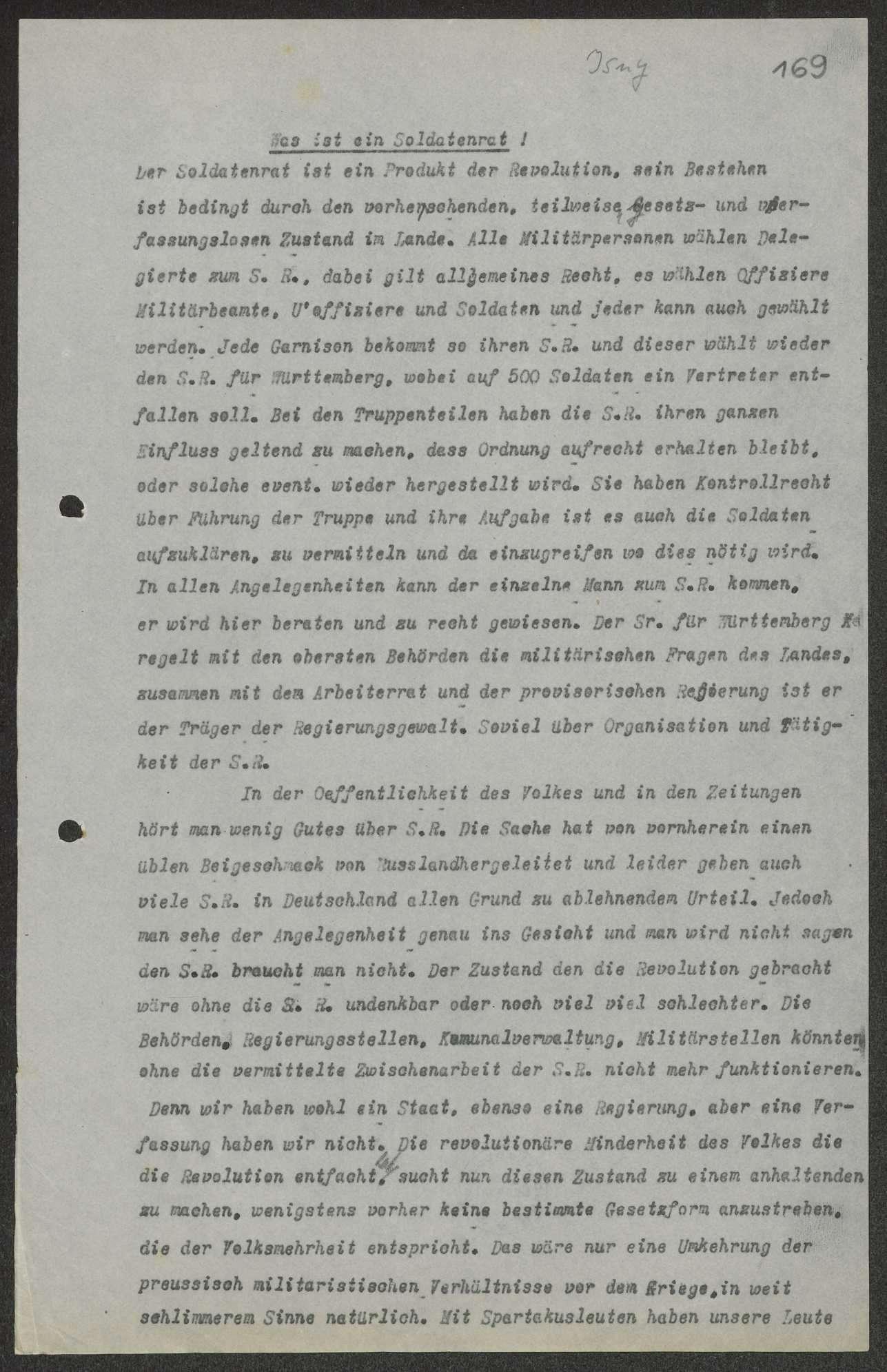 Erklärung über die Ziele des Soldatenrats, Bild 1