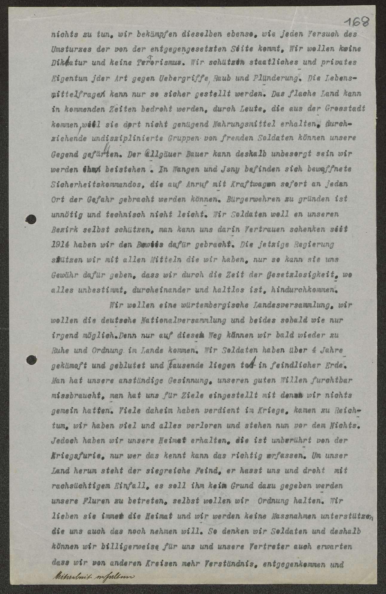 Erklärung über die Ziele des Soldatenrats, Bild 2