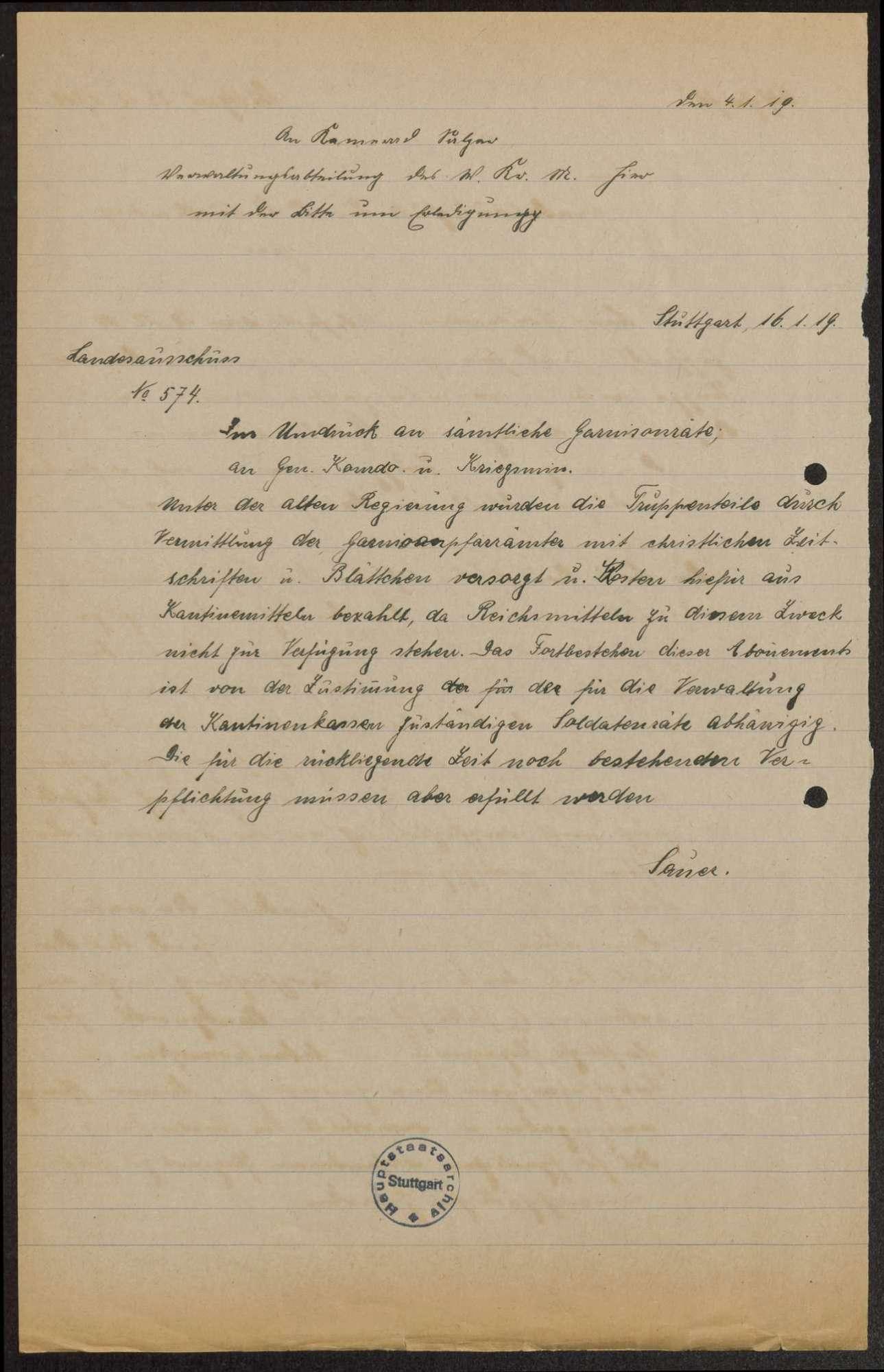 Allgemeine Regelungen für den Bezug kirchlicher Schriften und die Sicherung und Sichtung der Militärbibliotheken, Bild 2