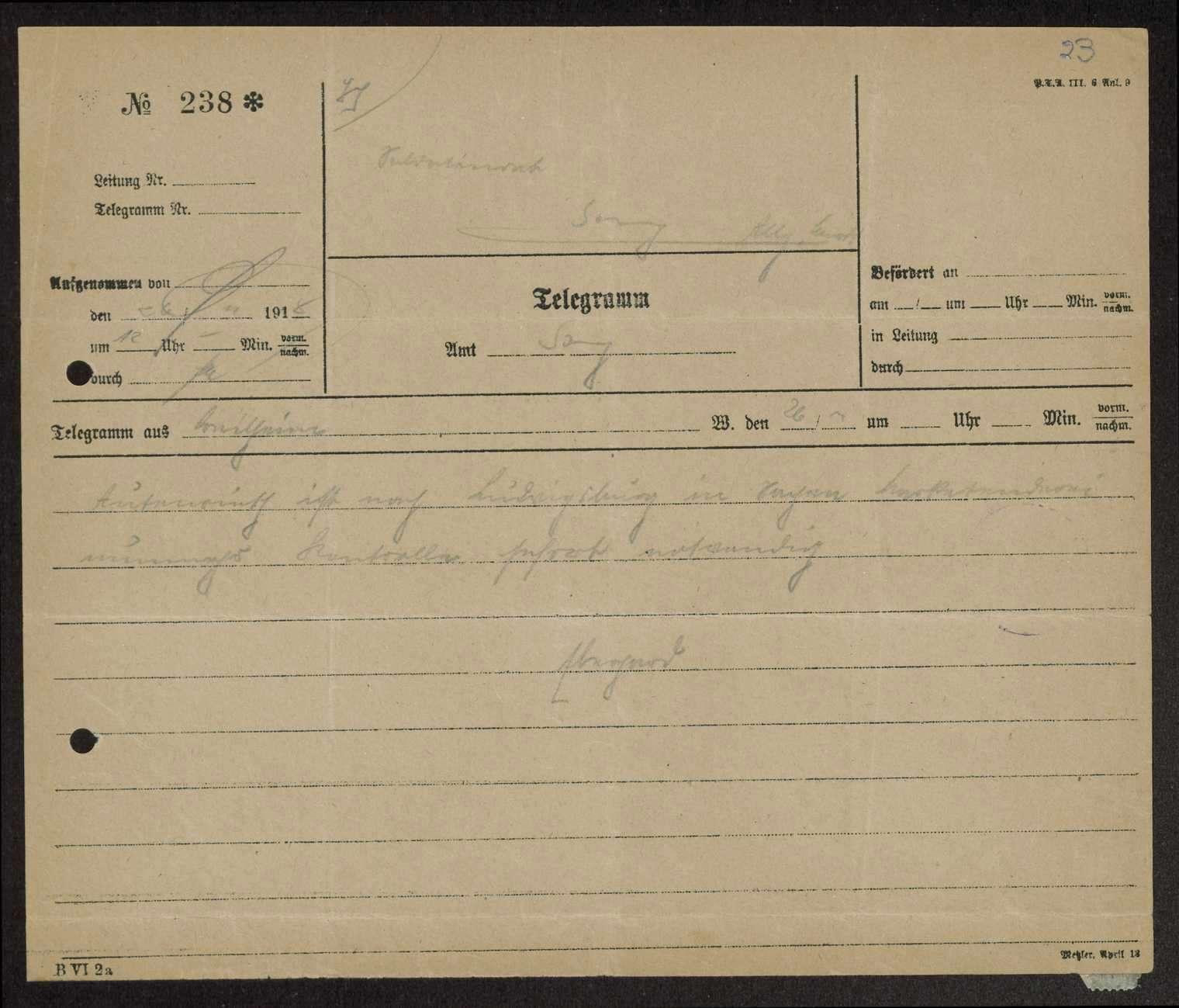 Verkauf der Kantinenbestände beim Gebirgsregiment und bei der 5. Ersatz-Maschinengewehrkompanie, Verteilung der Überschüsse, Bild 2