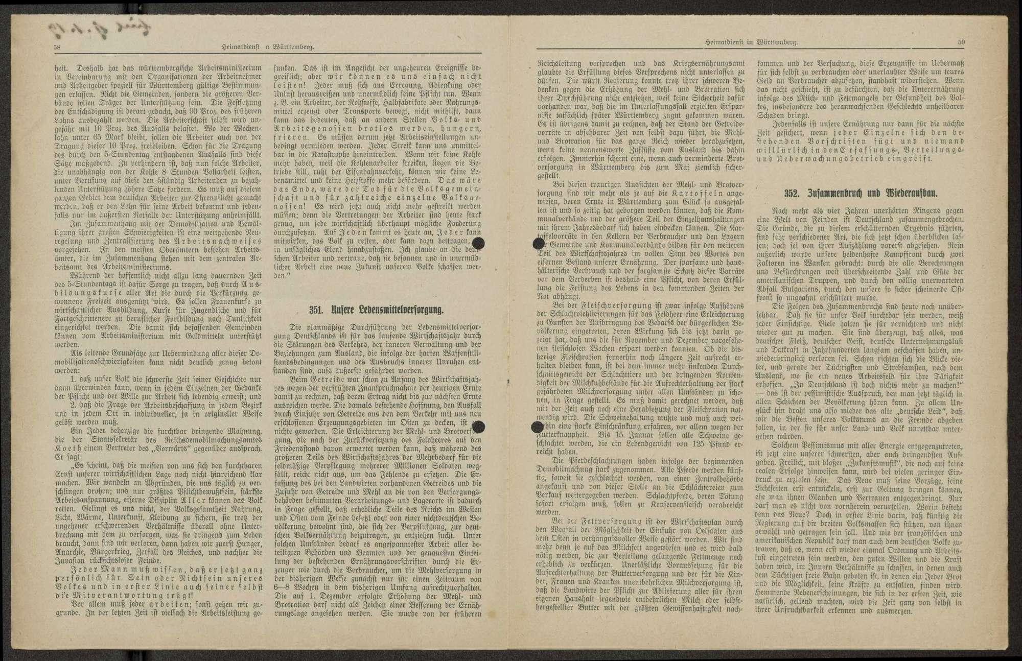 Heimatdienst in Württemberg, Nachrichten des Unterrichtsoffiziers des stellvertretenden Generalkommandos XIII. Armeekorps, Bild 2