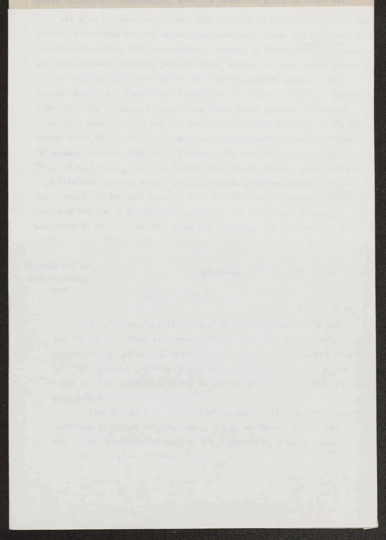 Berichte des Garnisonrats Ludwigsburg über die Revolution und die Arbeit des Garnisonrats, Bild 2