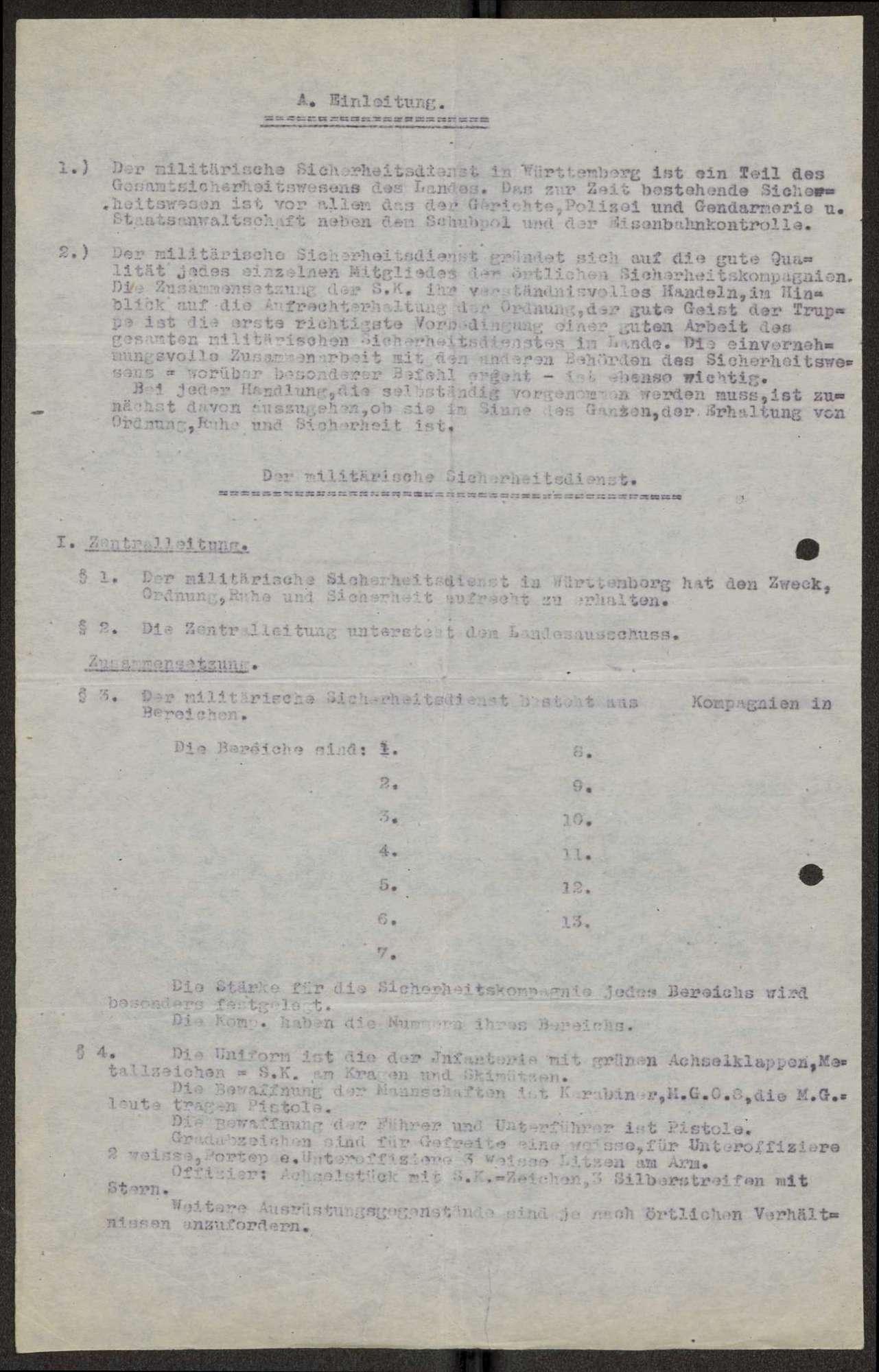 Aufbau, Organisation und Verwaltung des Sicherheitsdienstes in Württemberg, Bild 3