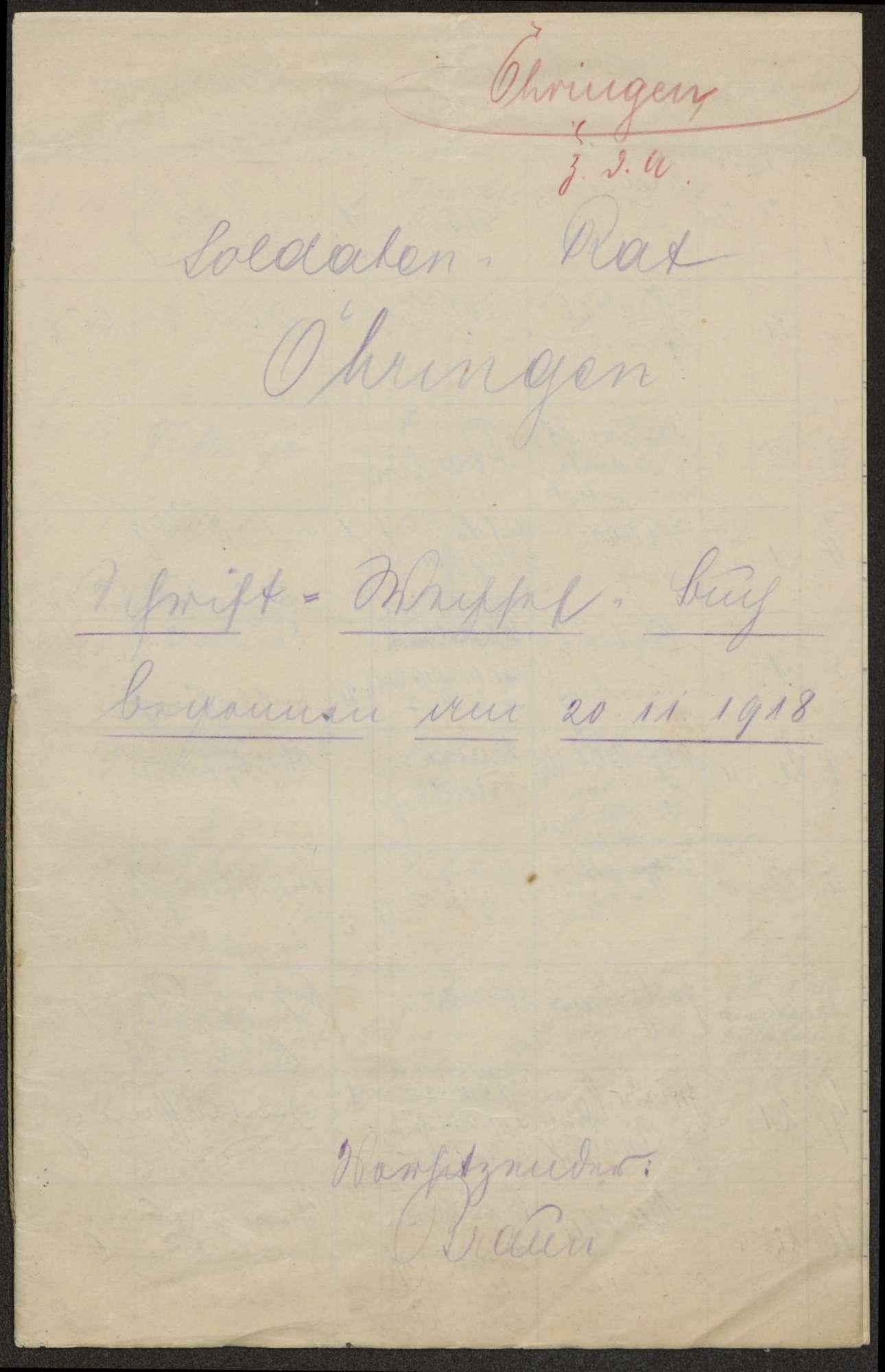 Schriftwechselbuch, Bild 1