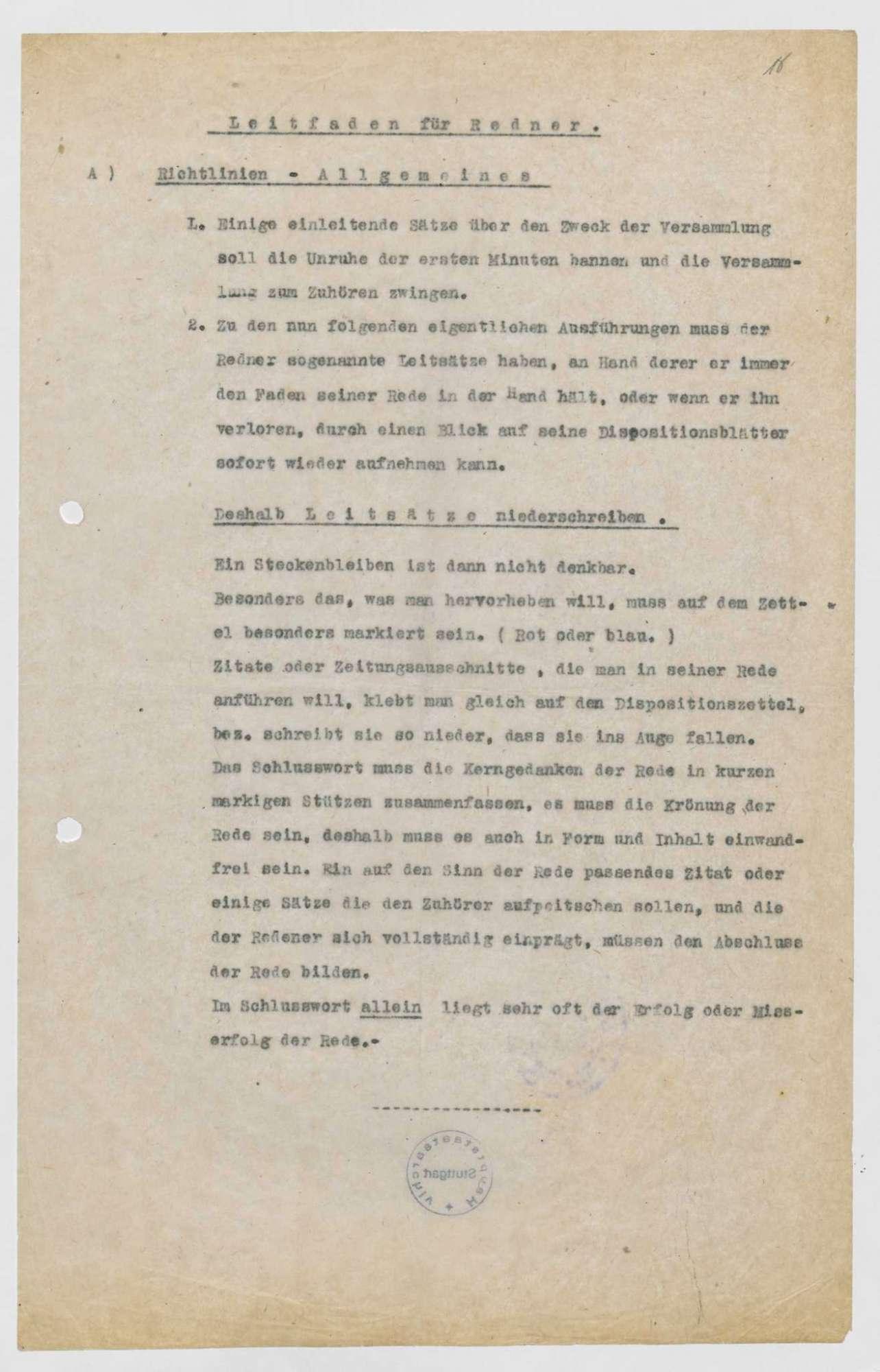 Stellung von Rednern durch den Landesausschuss, Organisation örtlicher Soldatenversammlungen, deren Kosten, Bild 3