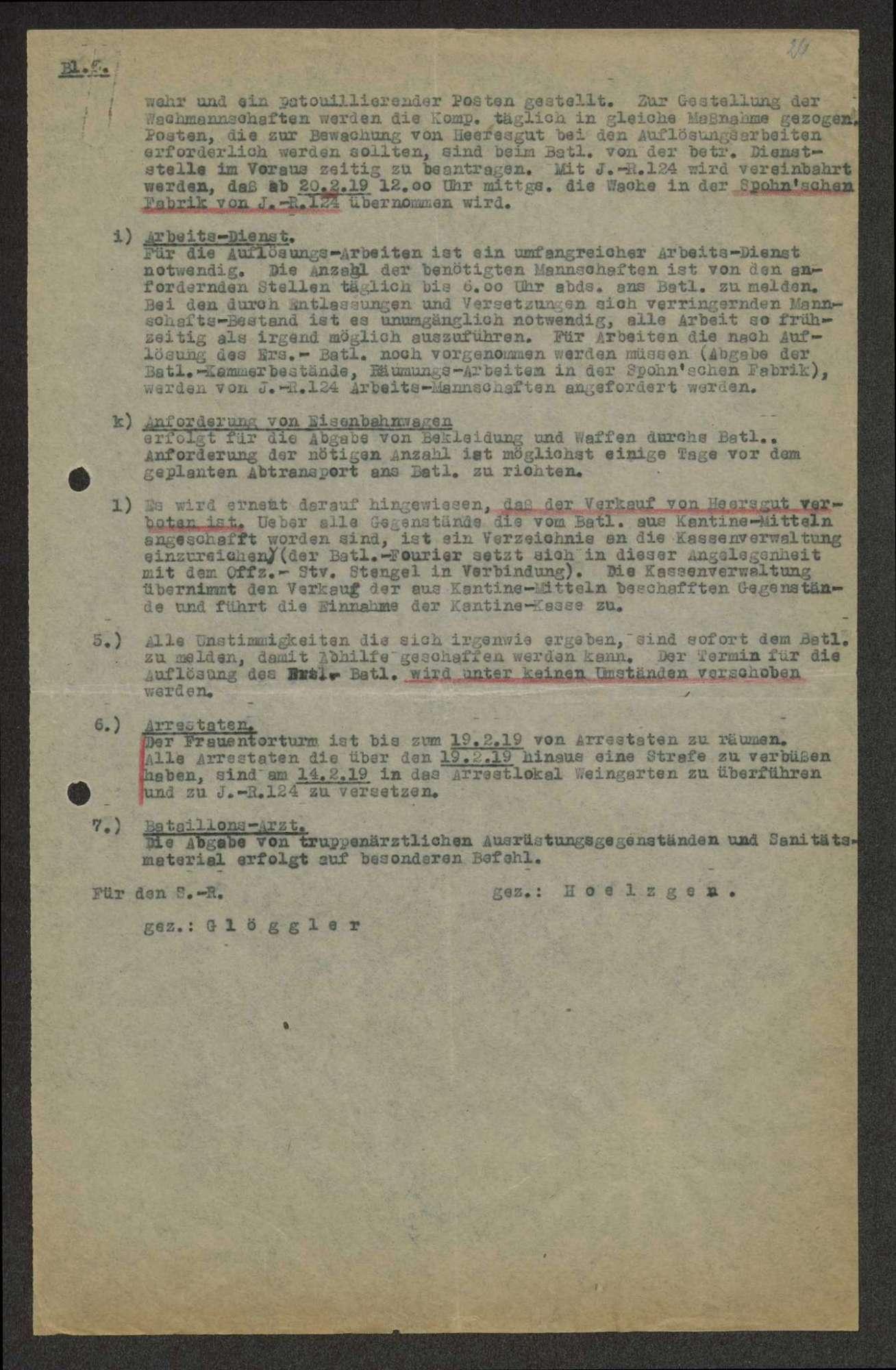 Auflösungsbefehl des Ersatz-Bataillons des Infanterie-Regiments Nr. 475, Bild 3