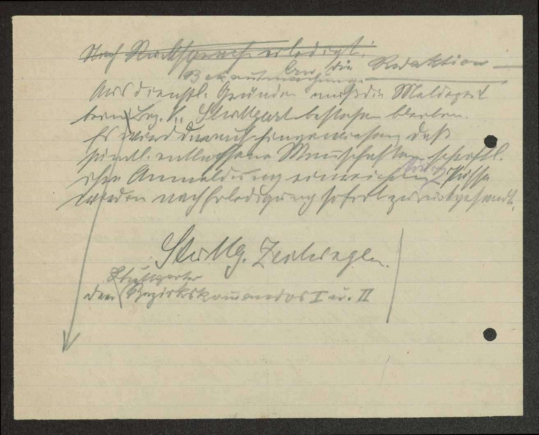 Bekanntmachung über die Meldezeit bei den Stuttgarter Bezirkskommandos I und II, Bild 2