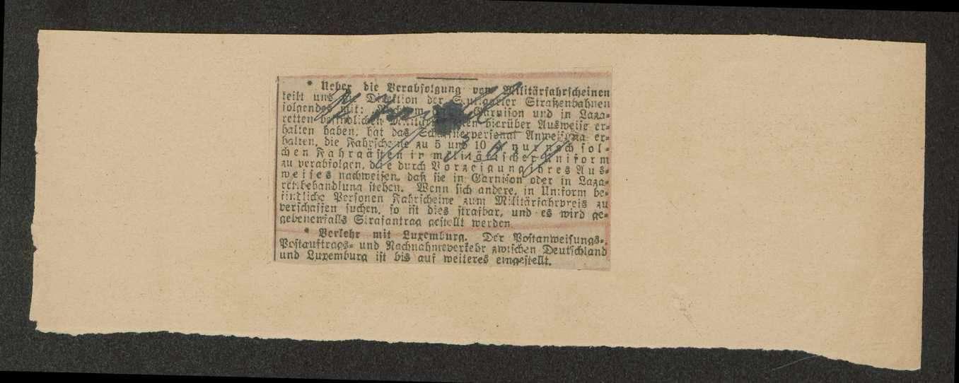 Aufhebung von Begünstigungen für Militärpersonen bei den Stuttgarter Straßenbahnen, Bild 3