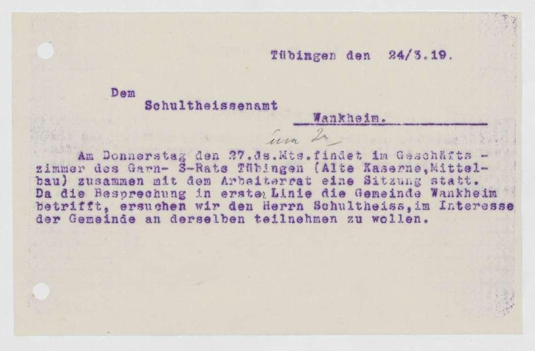 Einladungen zu Garnison- bzw. Soldatenratssitzungen, Beschlüsse, Bild 3