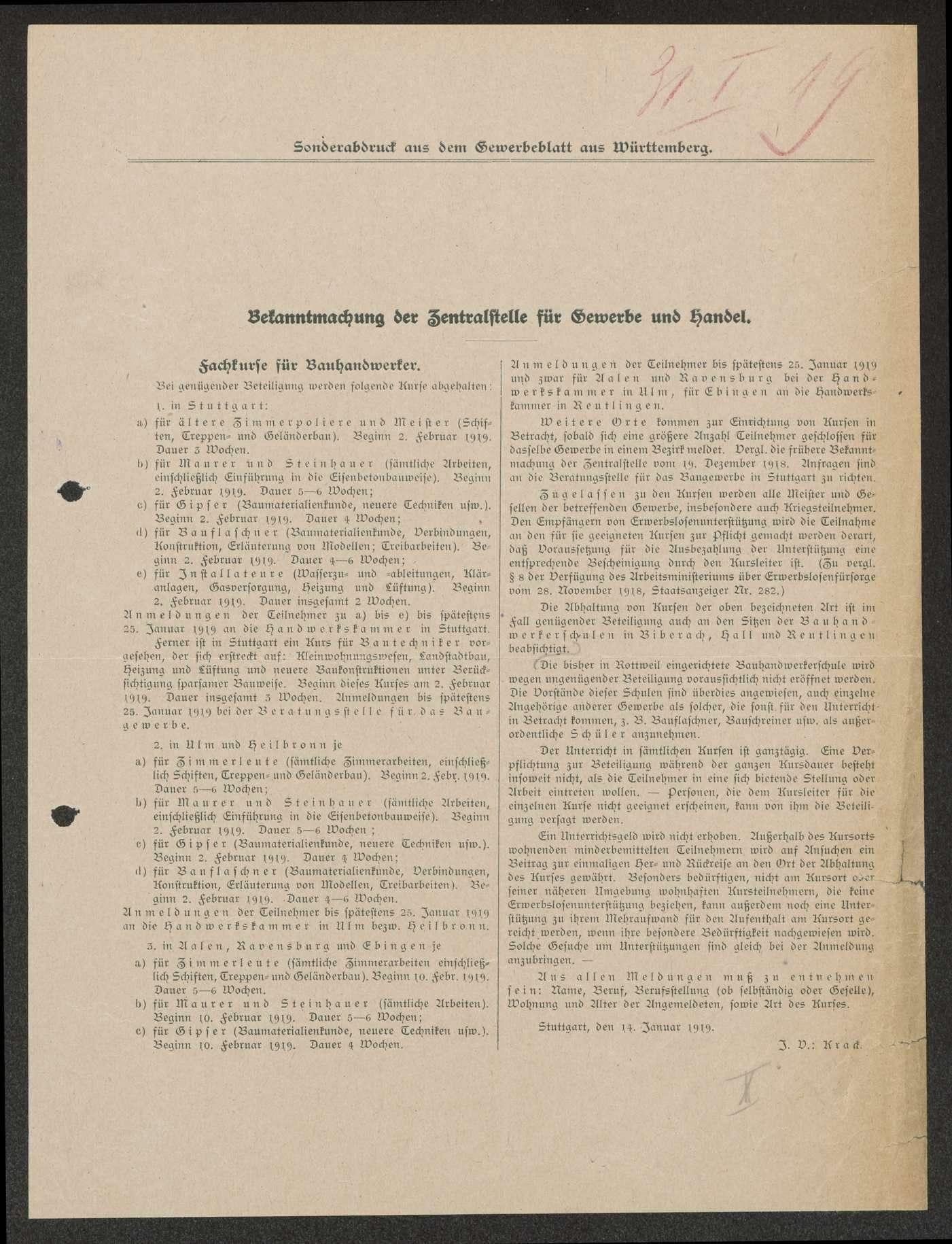 Allgemeine Verfügungen zur militärischen und wirtschaftlichen Demobilmachung, Bild 2
