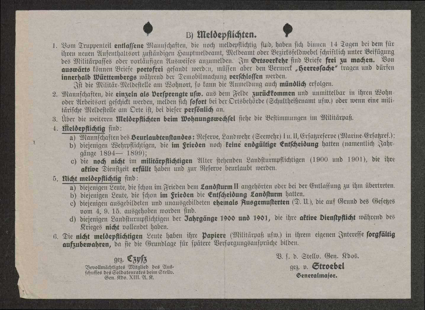 Entlassung aus dem Heeresdienst, Allgemeines, Verpflegung, Bekleidung, Versorgungsansprüche, Bild 3
