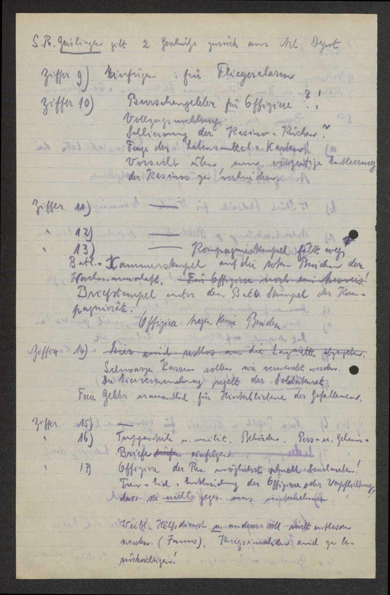 Protokolle von Vollzugsausschusssitzungen des Garnisonrats, Bild 2