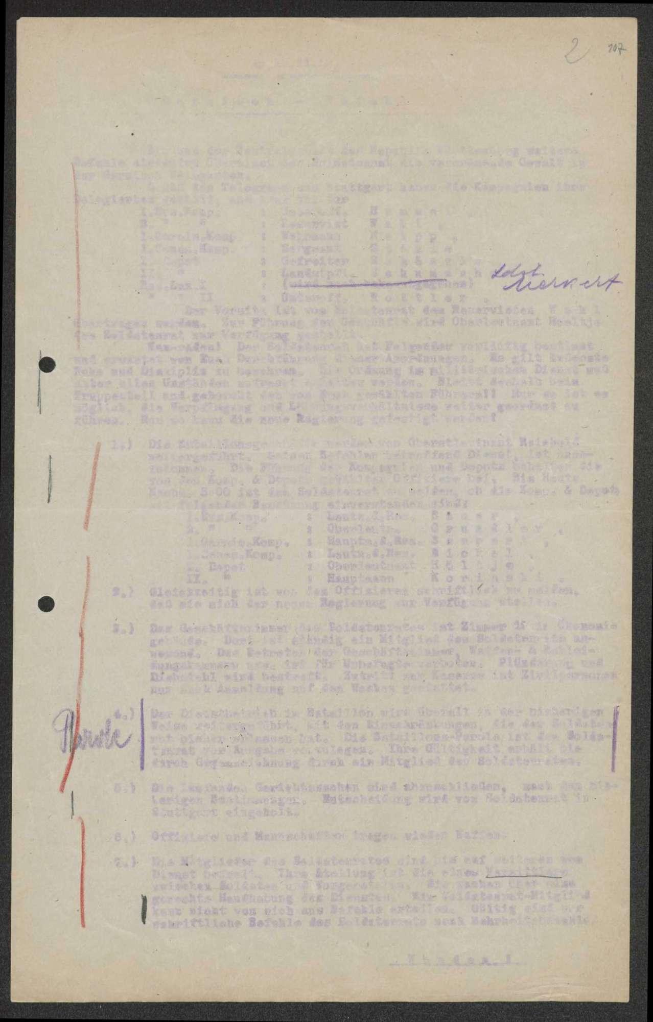 Regiments-, Garnisons- und Bataillonsbefehle, Bild 3