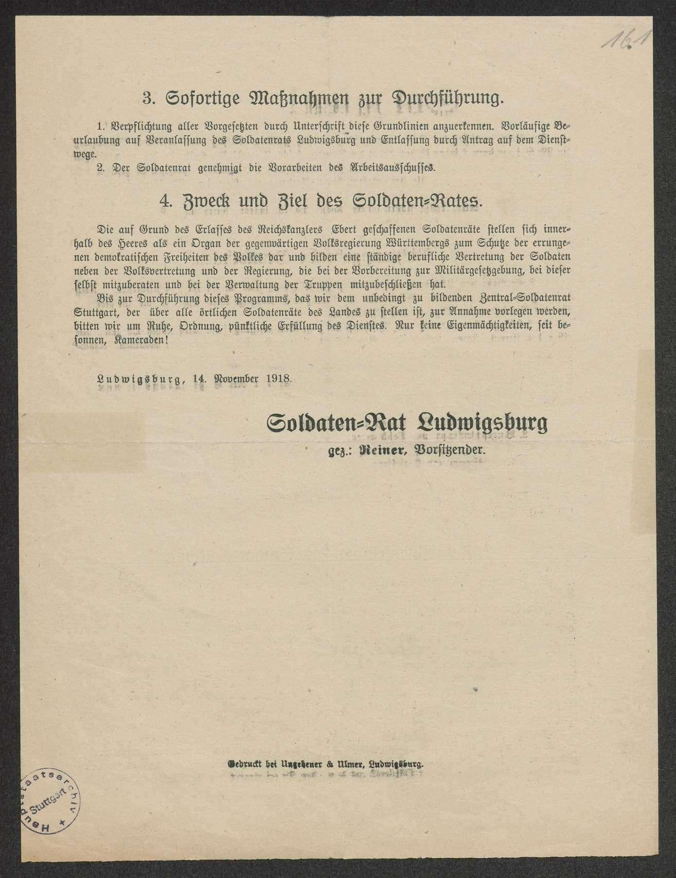 Abgabe von Treueerklärungen gegenüber der Regierung durch alle Militärpersonen einschließlich der Soldatenräte; Androhung der sofortigen Entlassung bei Verweigerung der Abgabe, Unterschriftenlisten, Bild 3