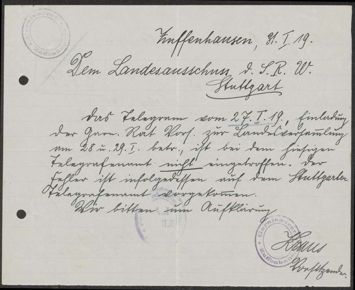 Einladung und Tagesordnung zu Garnisonratsvorsitzenden-Konferenzen, angenommene Anträge, Bild 2