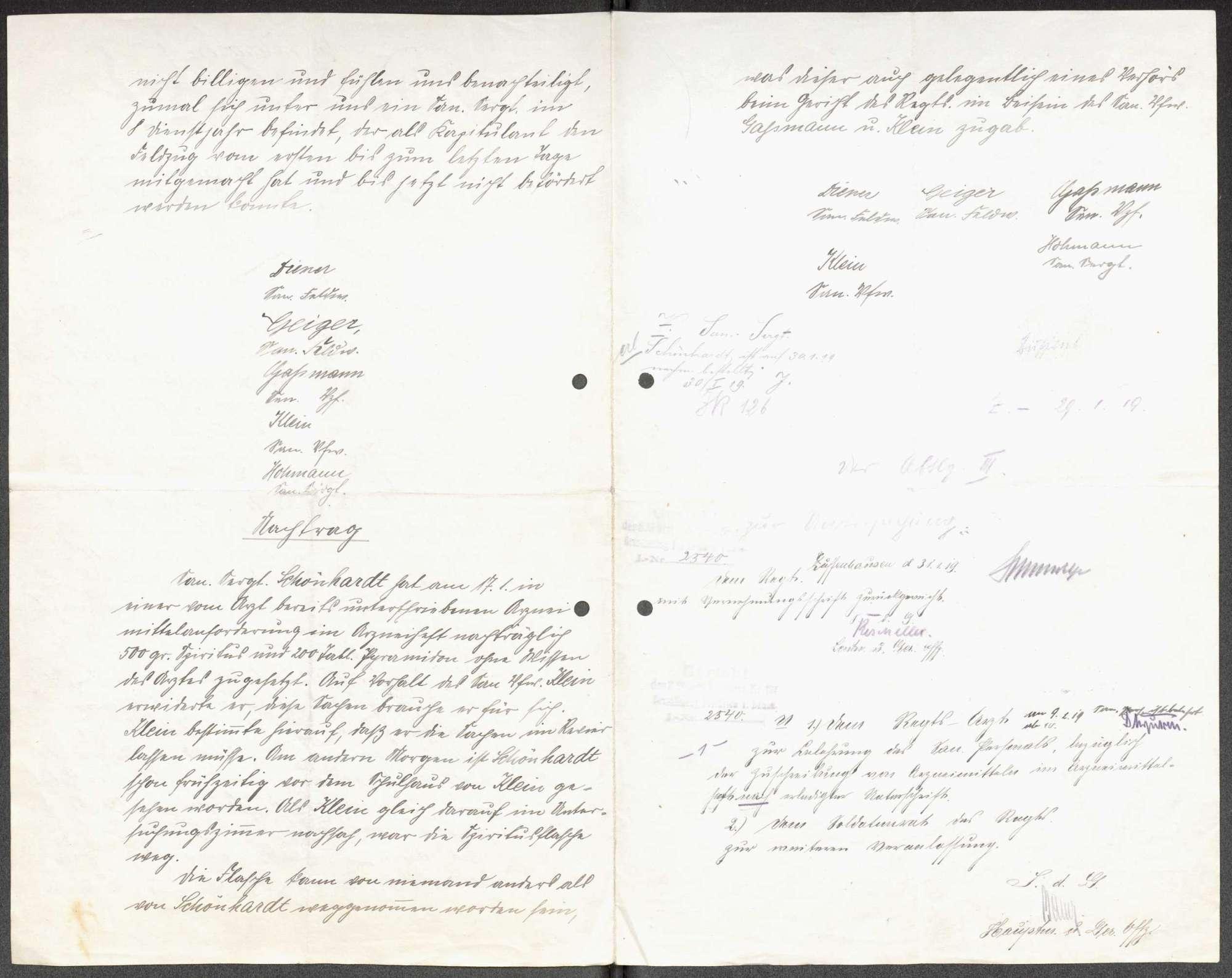 Anschuldigung eines Sanitätssergeanten und Missbilligung der Beförderung eines weiteren Sanitätssergeanten durch das Sanitätspersonal des Infanterie-Regiments Nr. 126, Bild 2