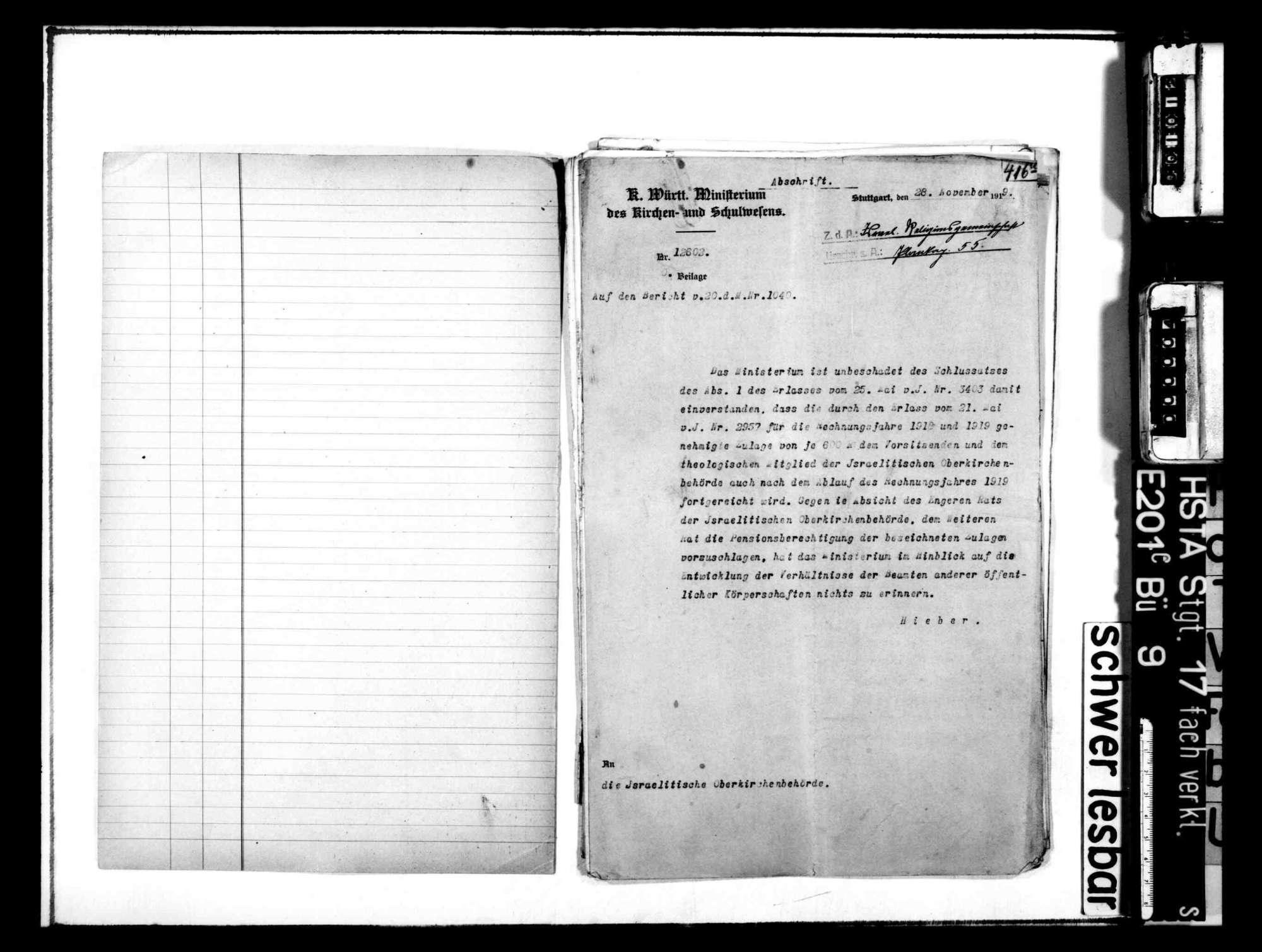 Entwurf und parlamentarische Verabschiedung des neuen Israelitengesetzes vom 8. Juli 1912 und Neuorganisation der israelitischen Kirchenverfassung, Bild 2