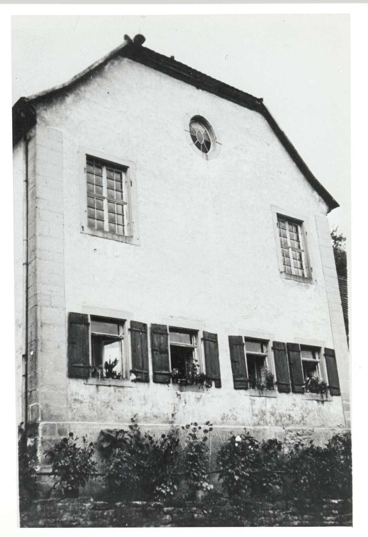 Billigheim, MOS; Synagoge, Vorderansicht, Bild 1
