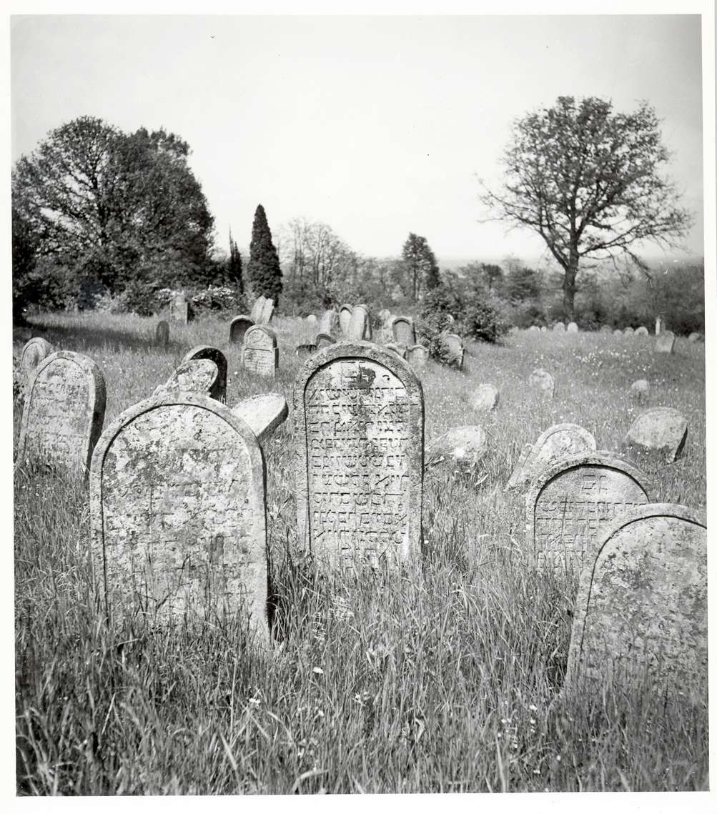 Kuppenheim, RA; Jüdischer Friedhof, älterer Teil, Gräber, Bild 1