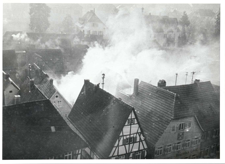 Mosbach, MOS; Reichspogromnacht, Synagogenbrand, Bild 1
