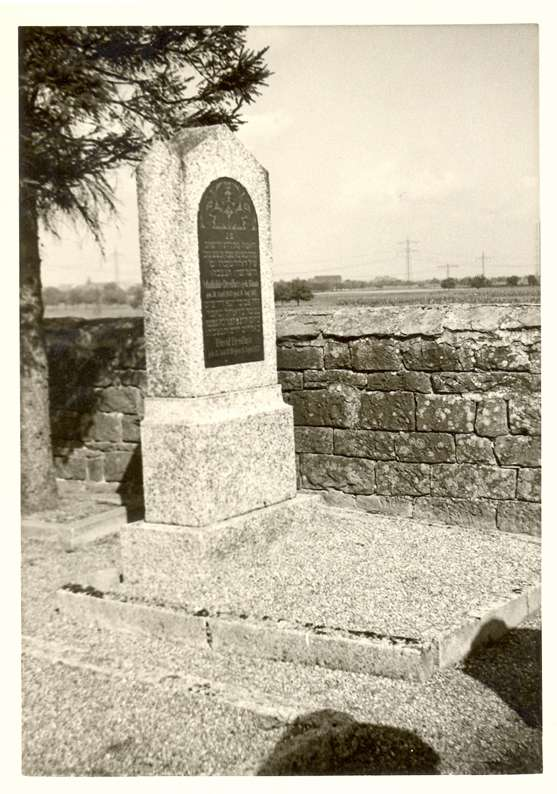 Nonnenweier, Schwanau, OG; Jüdischer Friedhof, Grab der Familie Dreifuss, Bild 1