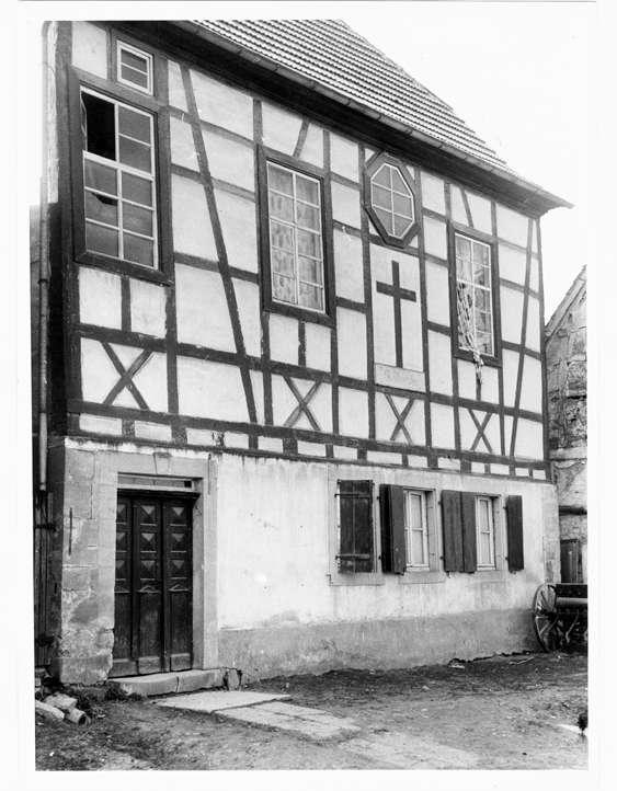 Obergimpern, Bad Rappenau, HN; Ehemalige Synagoge, Außenansicht, Bild 1