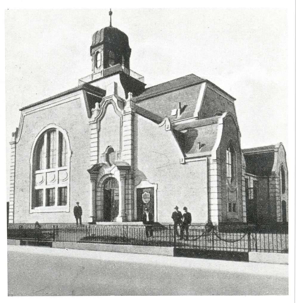 Rastatt, RA; Neue Synagoge, Außenansicht (Zeichnung), Bild 1