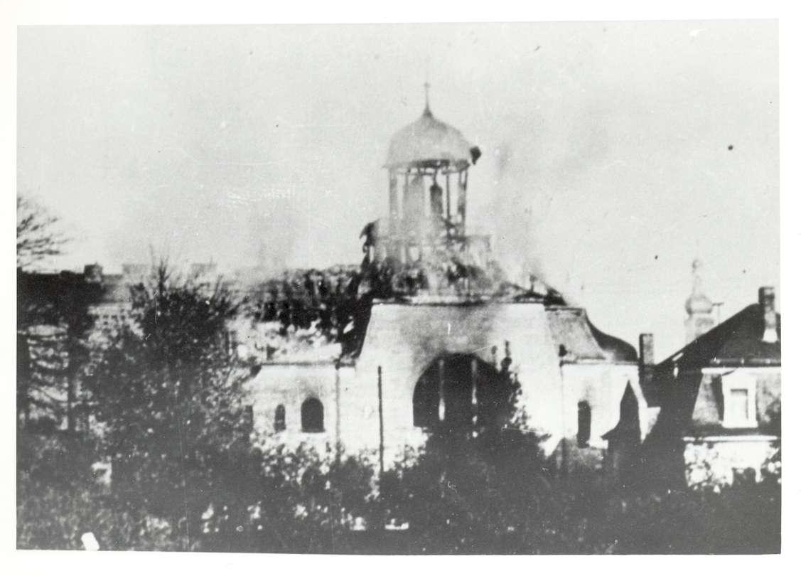 Rastatt, RA; Synagogenbrand, Bild 1