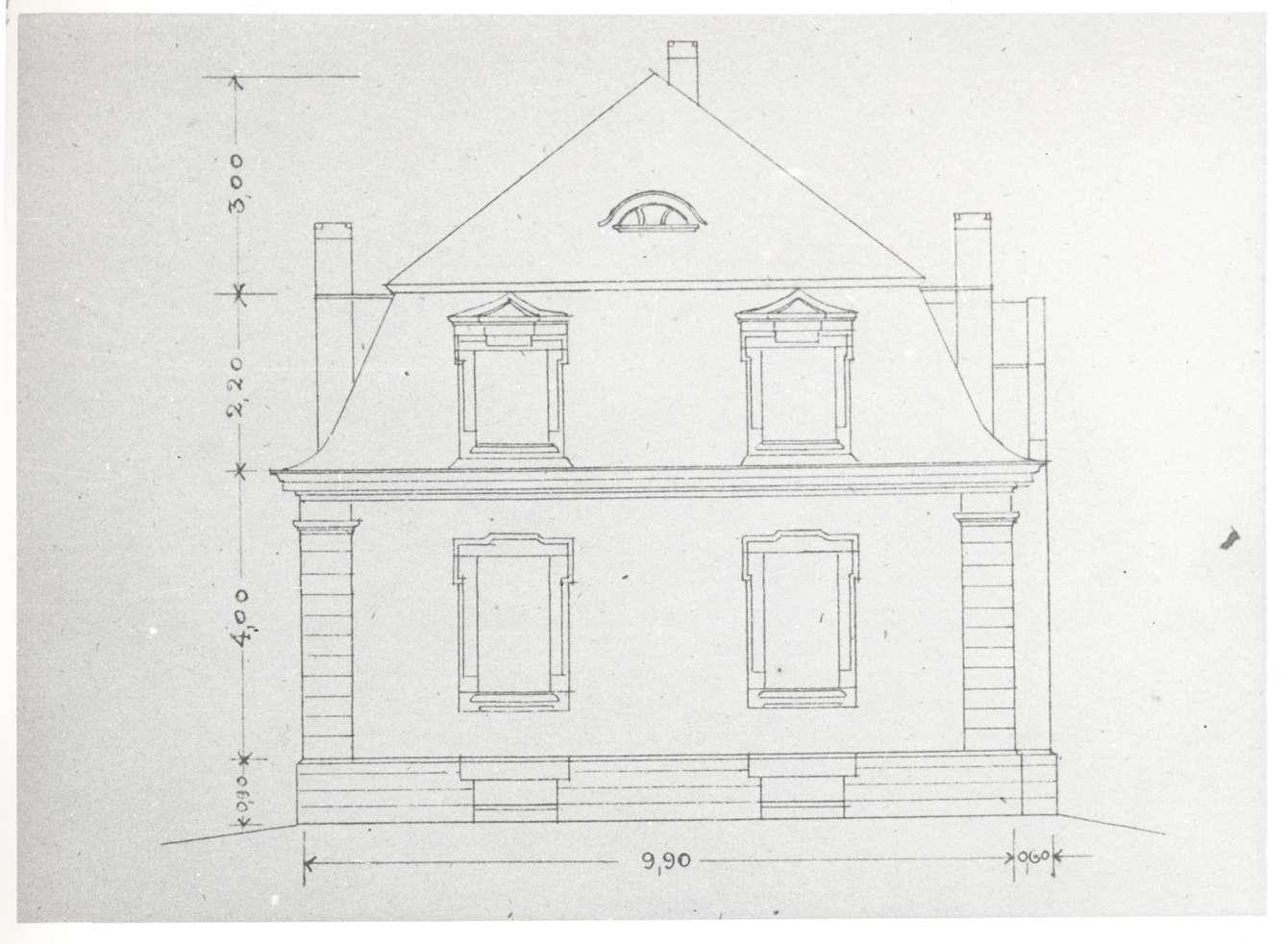 Rastatt, RA; Rabbinerhaus, Vorderansicht (Bauplan von 1905), Bild 1