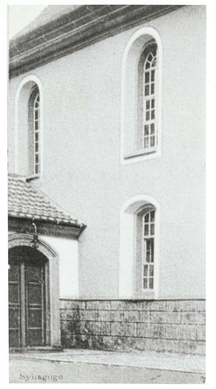 Schmieheim, Kippenheim, OG; Synagoge, Außenansicht (Detail einer Ansichtskarte), Bild 1