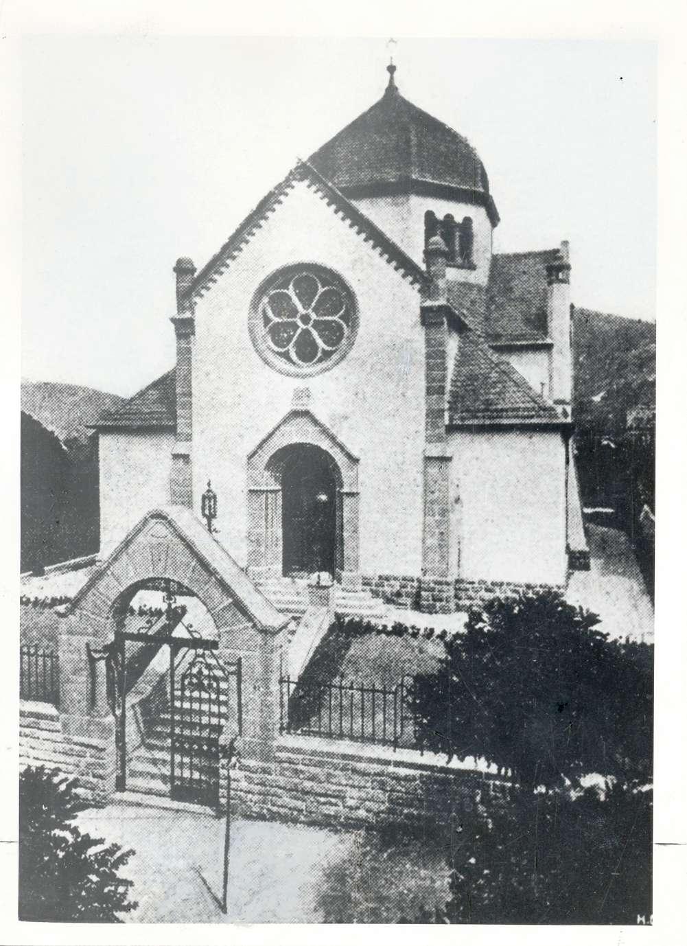 Weinheim, HD; Synagoge, Außenansicht, Bild 1