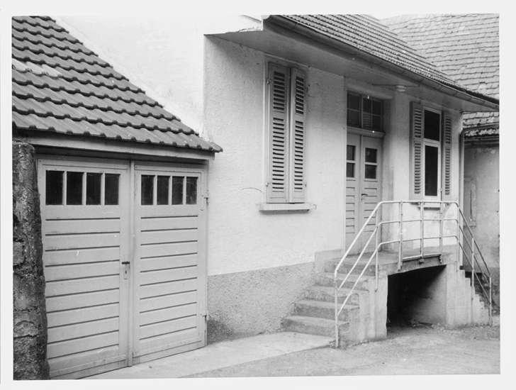 Bad Rappenau, HN; Synagoge, Außenansicht mit Treppenaufgang, Bild 1
