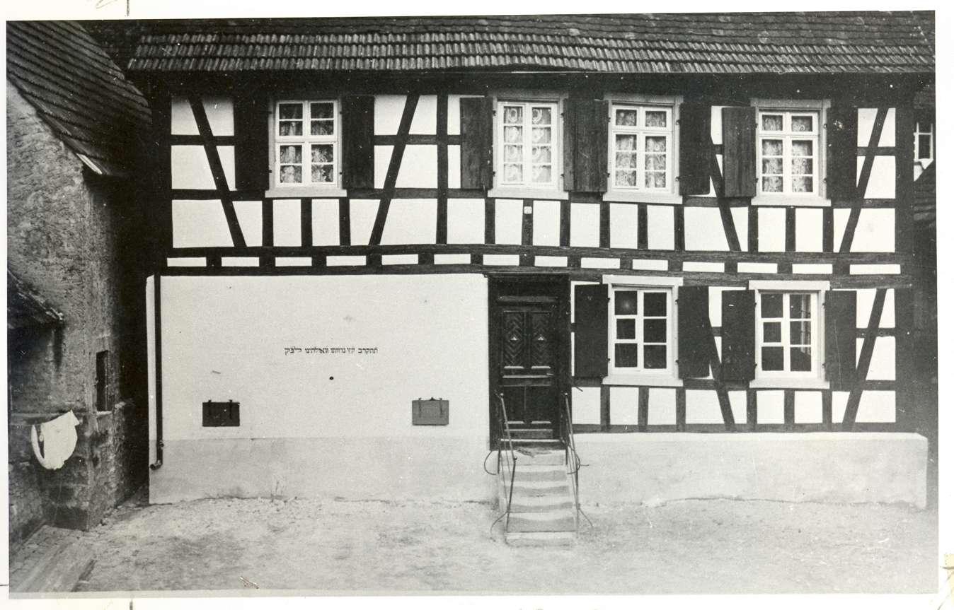 Diersburg, Hohberg, OG; Judenschule, Vorderansicht, im Oberstock Wohnung des Lehrers, Bild 1