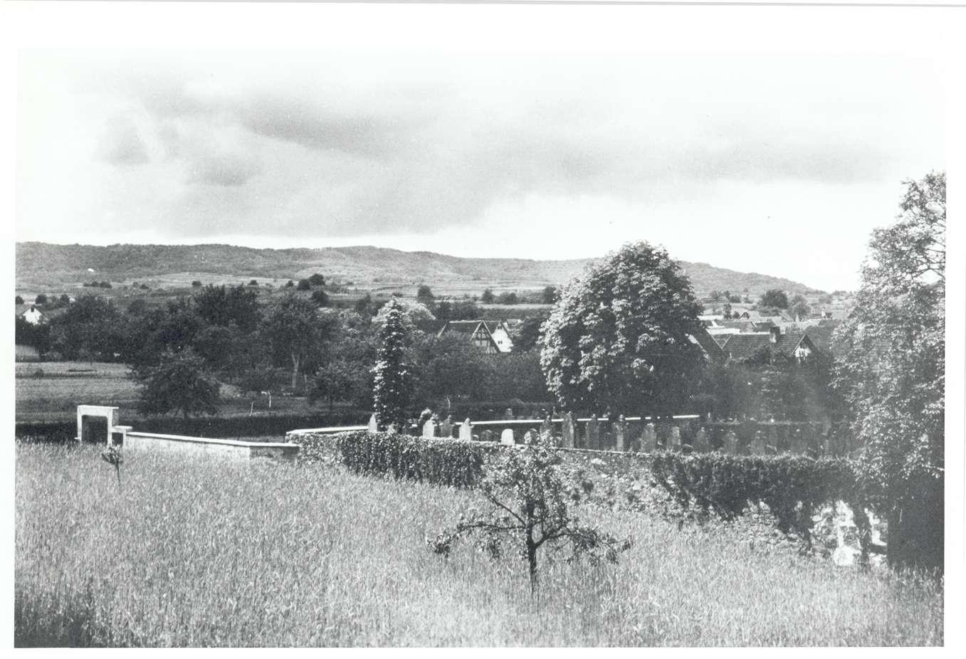 Eichstetten, FR; Jüdischer Friedhof, Außenansicht, Bild 1