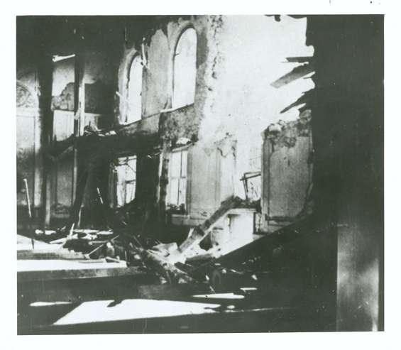 Gailingen, KN; Synagogenruine, Innenansicht, Bild 1