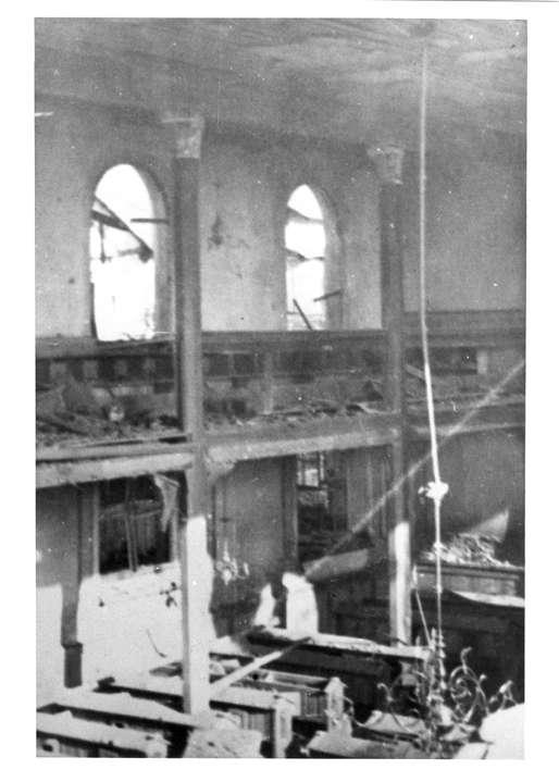 Gailingen, KN; Synagogenruine nach der Reichspogromnacht, Innenansicht, Bild 1