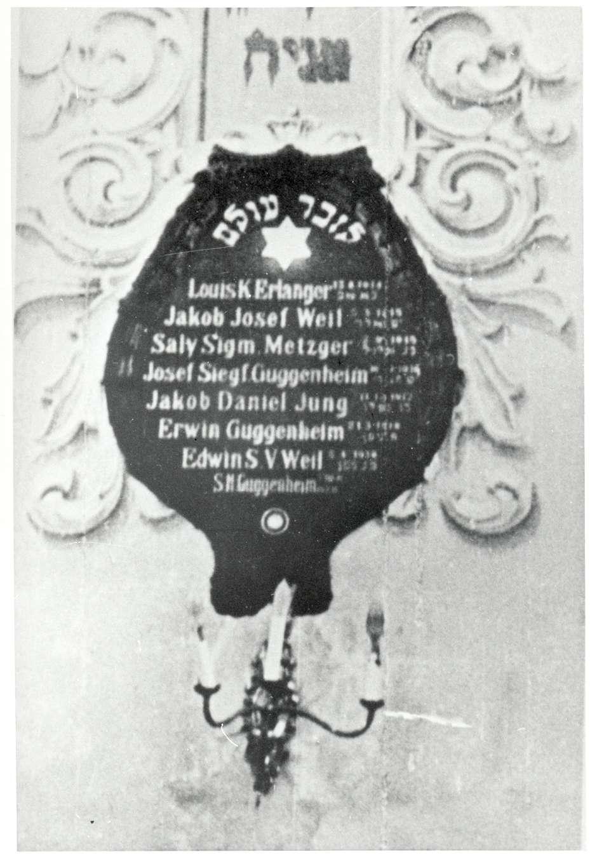 Gailingen, KN; Synagoge, Gefallenengedenktafel 1914-1918, Bild 1