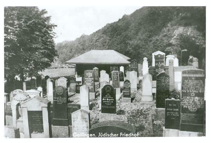 Gailingen, KN; Jüdischer Friedhof, Grabsteine (1934-1944), Bild 1