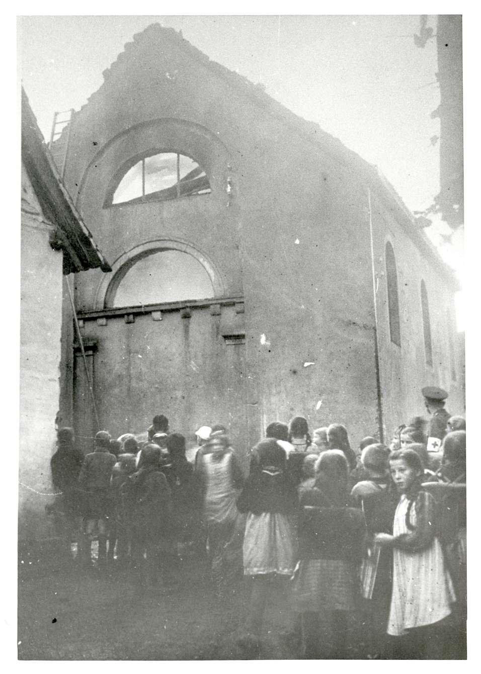 Kuppenheim, RA; Synagogenbrand, Bild 1