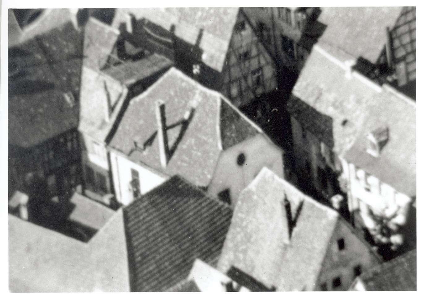Mosbach, MOS; Synagoge (Ausschnitt aus Luftaufnahme), Bild 1
