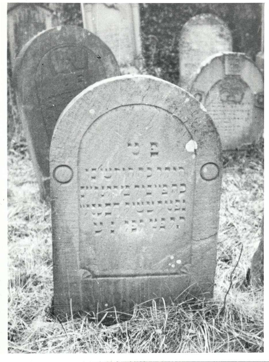Wiesloch, HD; Jüdischer Friedhof, Grabstein von 1828, Bild 1