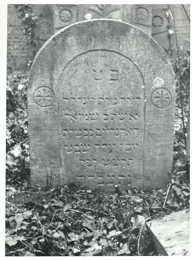 Wiesloch, HD; Jüdischer Friedhof, Grabstein von 1838, Bild 1